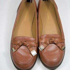Tommy Hilfiger Brown Leather Letyan Loafers 7.5M